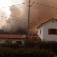 Wirbelsturms Ophelia fachte die Waldbrände an